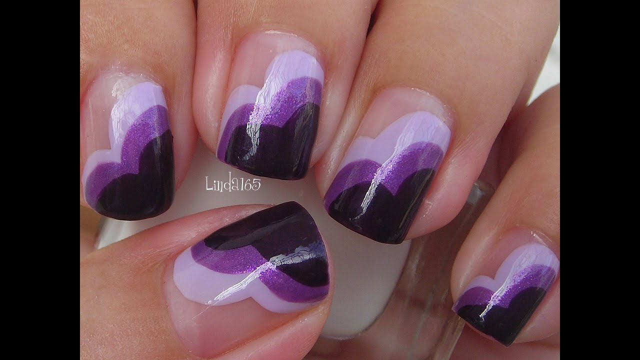 Nail art wear purple for lupus decoracion de u as - Decoracion de unas ...