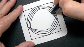 Letter C Spiral Drawing - Alphabet Series - Relaxing Art Therapy - Satisfying Demo