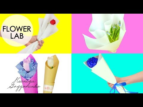 top-5-diy:-how-to-wrap-a-single-flower- -how-to-make-a-bouquet-with-single-rose---craft-tutorial
