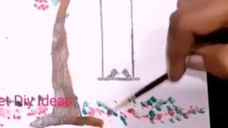 Cute painting ideas for room decor, wall decor diy ideas, paper craft, 5 minutes craft diy ideas,