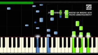 THE ANIMALS - THE HOUSE OF THE RISING SUN - SYNTHESIA (PIANO COVER) + SHEET MUSIC