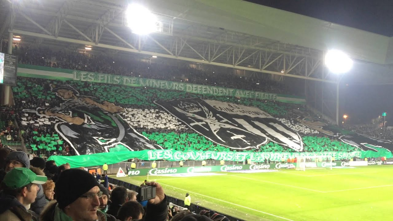 tifo as saint etienne lyon 2016 1 0 superbe youtube. Black Bedroom Furniture Sets. Home Design Ideas
