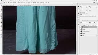 как убрать складки на платье в Photoshop