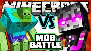 MUTANT ZOMBIE VS MUTANT ENDERMAN - Minecraft Batalha de Mobs - Mutant Creatures Mod