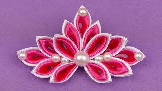 Check out my other Kanzashi flowers here: https://goo.gl/c8mW42 Hel...