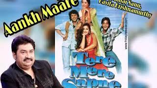 Aankh Maare | Kumar Sanu | Kavita Krishnamurthy | Tere Mere Sapne