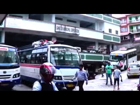 Tourist Help for Gangtok Municipal Corporation Office Bus Stand & Glimpses Of Vigyan Bhawan, Gangtok