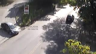 Video: SINISTRO VIAL POR FRENADA BRUSCA
