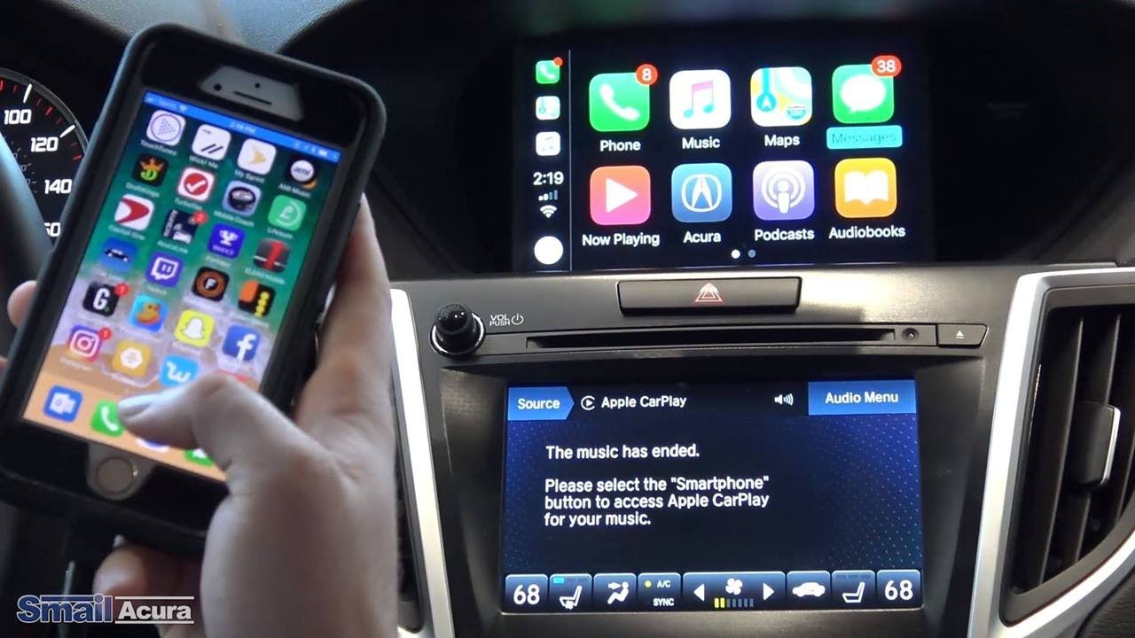 connect iphone to car how to connect your iphone to apple carplay in your acura 13850