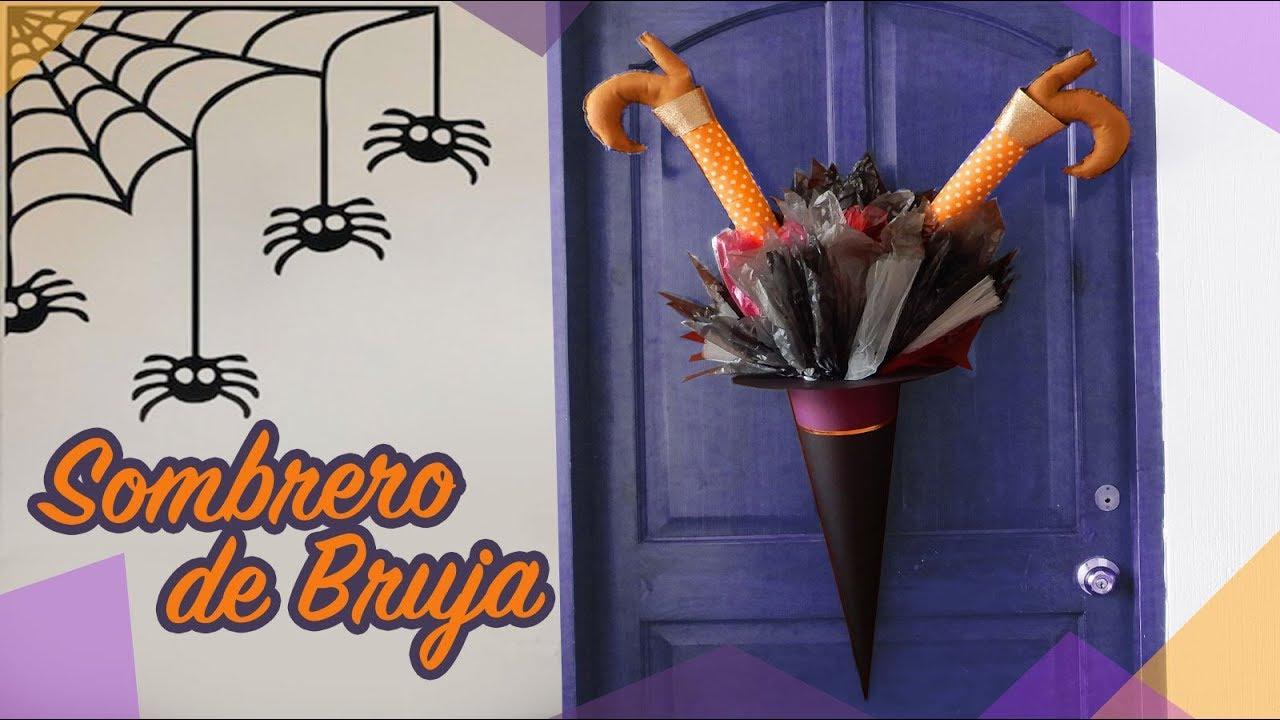 Sombrero De Bruja Para Decorar La Puerta Este Halloween Chuladas Creativas