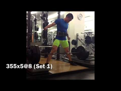 Manny Prieto Training 8/4/14: Bench, Sumo Block Pulls, and SABO Deadlift Shoes