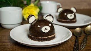 Пирожное Мишки Мусс из нутеллы и сочный шоколадный бисквит