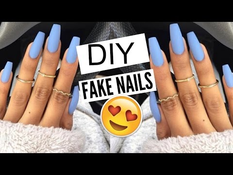 DIY: 5 Min FAKE Nails at HOME! (NO ACRYLIC) |Kellie Sweet
