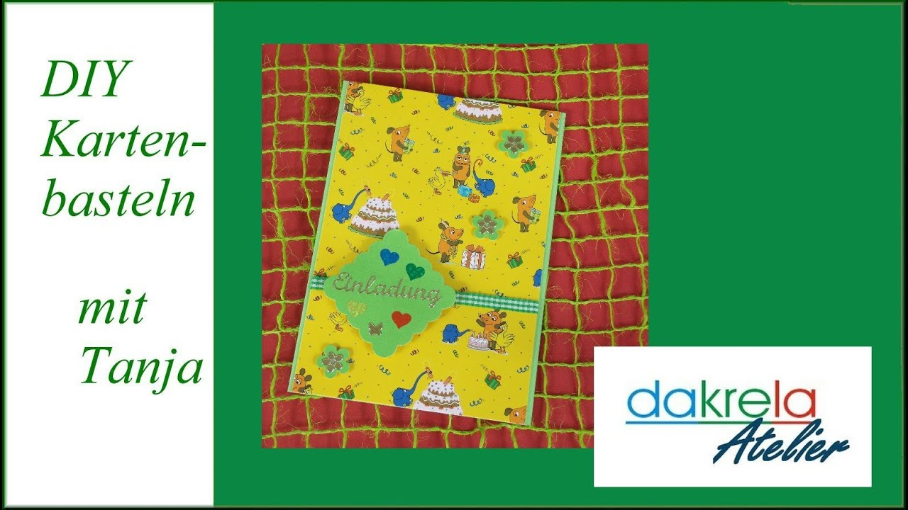 Einladungskarte zum Kindergeburtstag basteln - cardmaking [deutsch ...