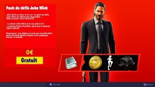"🎁 NEW PACK OF FREE SKIN ""JOHN WICK"" ON FORTNITE!"