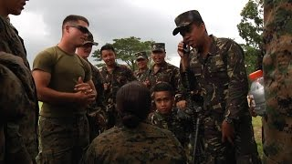 Us Marines Train Philippine Army In Dog Handling And Military Radio Equipment