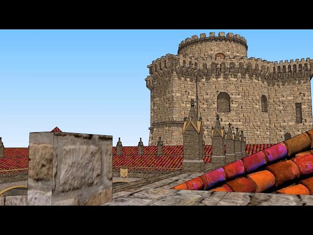 Castillo - Palacio Duques de Alba. Visita Virtual/Reconstrucción. Alba de Tormes (Salamanca)