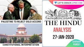27-Jan-2020 | Daily Current Affairs | The Hindu Analysis | UPSC CSE 2020/2021/2022 | Saurabh Pandey