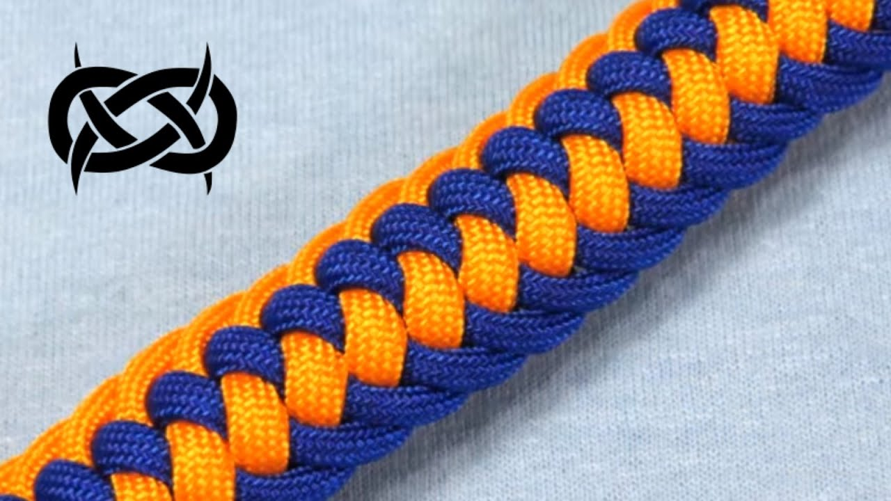 How to make a tiat s genoese zipper sinnet paracord bracelet youtube