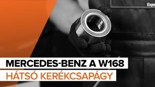 MERCEDES-BENZ A-CLASS hátsó bal jobb Kerékcsapágy készlet beszerelése: videó útmutató
