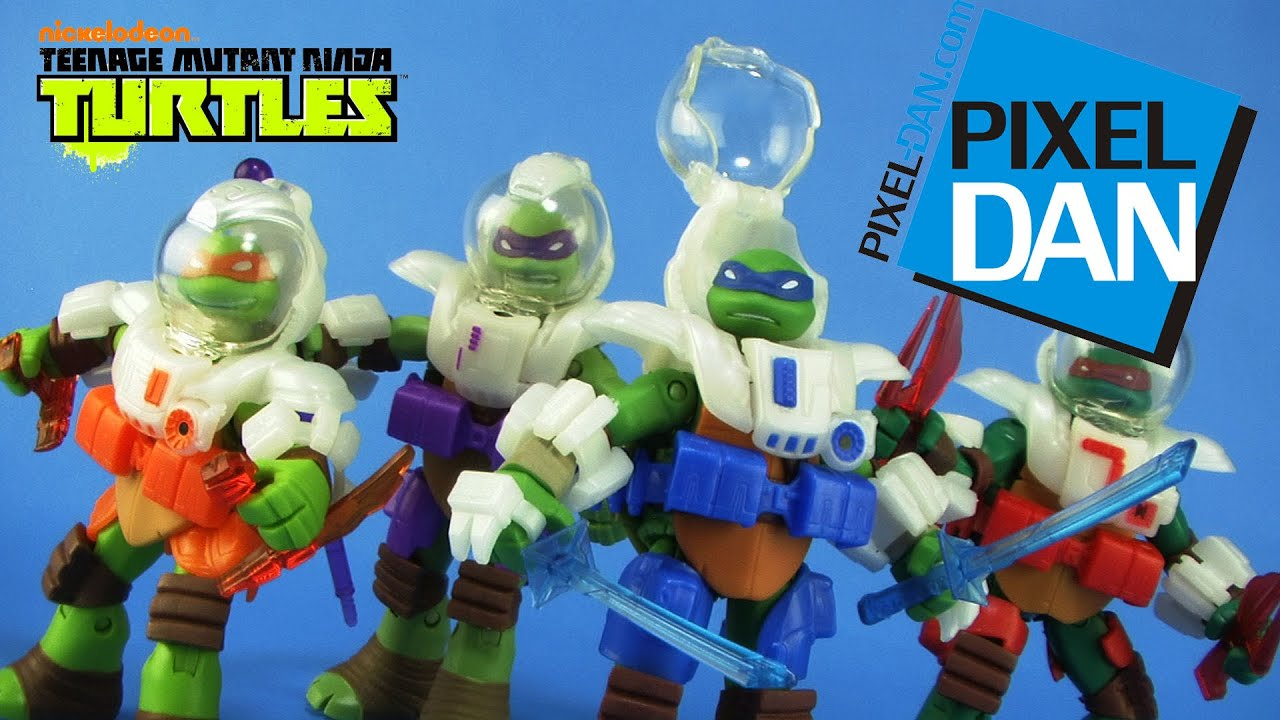 Space Gear Teenage Mutant Ninja Turtles Dimension X Figures Video