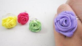 Mini Fashion DIY - How to make ribbon rose rings - EP