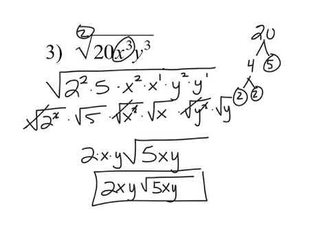 6.1 Simplifying Radicals with Index of 2(WITH VARIABLES)