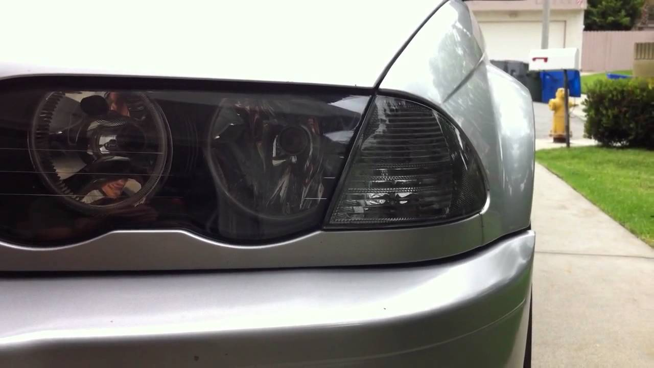 E46 Smoked Corner Lights Youtube
