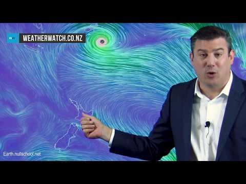 NZ's weather up until Sunday plus the future path of Cyclone Gita (13/02/18)