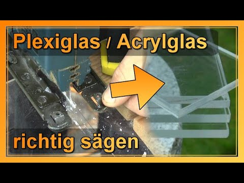 Bevorzugt Plexiglas richtig sägen | Anleitung - YouTube BL35