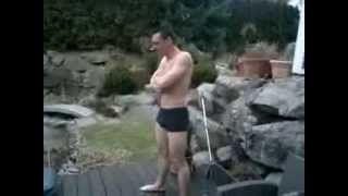 Icy Swimming Pool Diving - Funny Video