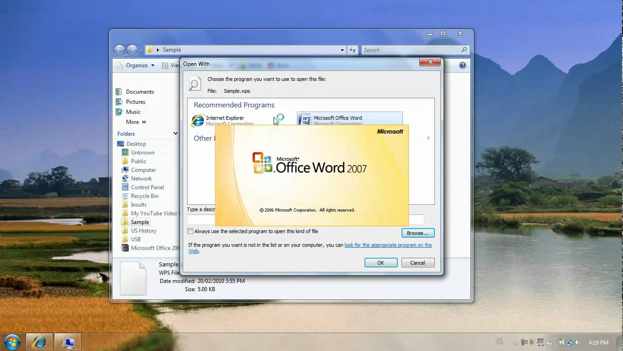 How To Open Up  wps Files Using Microsoft Office Word