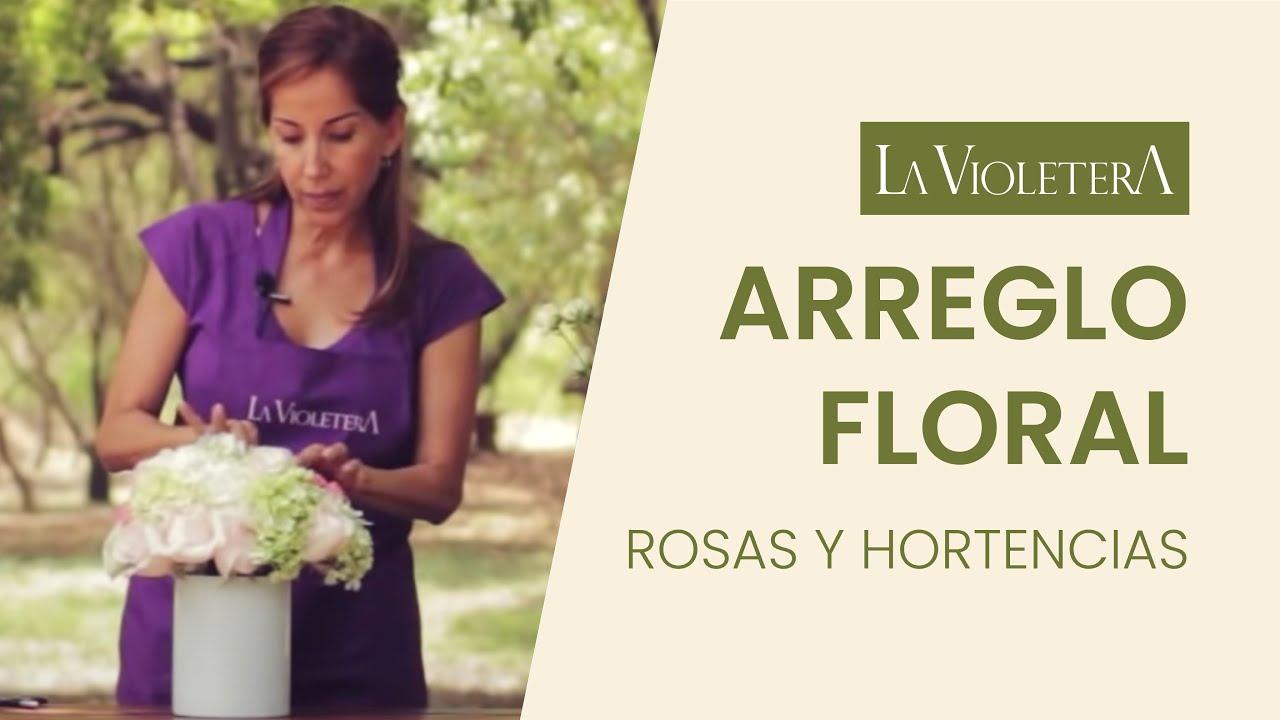 Como Hacer Un Arreglo Floral De Rosas Y Hortensias Escuela Floral La Violetera
