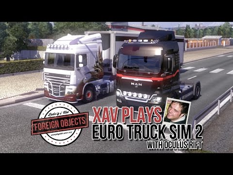 Driving recklessly with Oculus Rift in Euro Truck Simulator 2