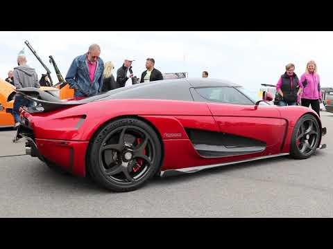 Car meet with Koenigsegg and Drifting Vallåkraträffen