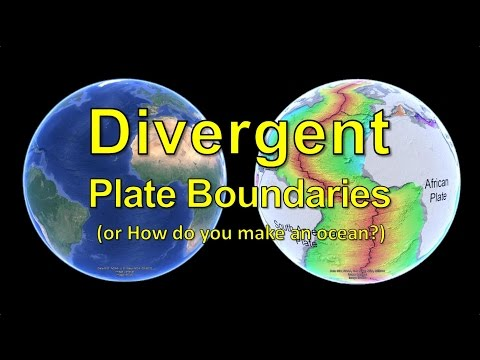 Divergent Plate Boundaries (or How do you make an ocean?)