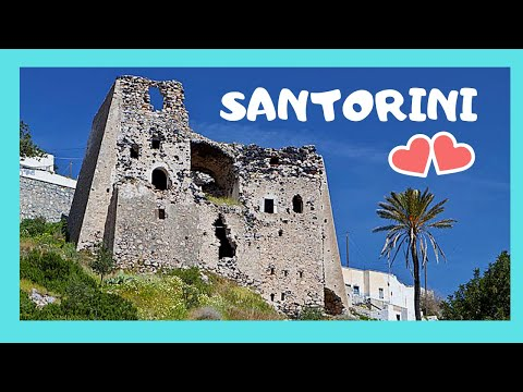 SANTORINI, exploring a 13th century abandoned VENETIAN CASTLE  (GREECE)