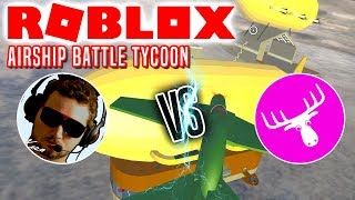 AIR BATTLE WITH DME! -Roblox Airship Battle Tycoon Danish with the Manly Moose