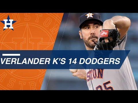 Verlander strikes out 14 Dodgers in WS rematch