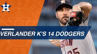 Verlander strikes out 14 Dodgers in WS rematch