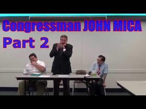 John Mica Part 2 Speaking at the Right Candidate Meeting