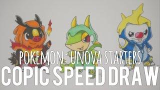 Copic Speed Draw : Pokemon Unova Starters