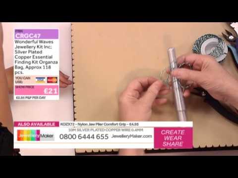 'How to Make Twisted Wire Jewellery': JewelleryMaker LIVE 26/08/2014