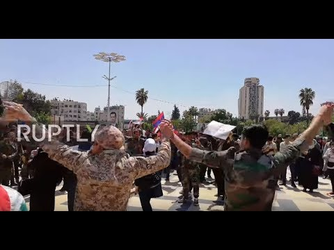 Syria: Protesters gather in Aleppo to slam US-led airstrikes on Syria