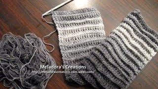 Riptide Scarf  Left Handed Crochet Tutorial - Good scarf for men too!