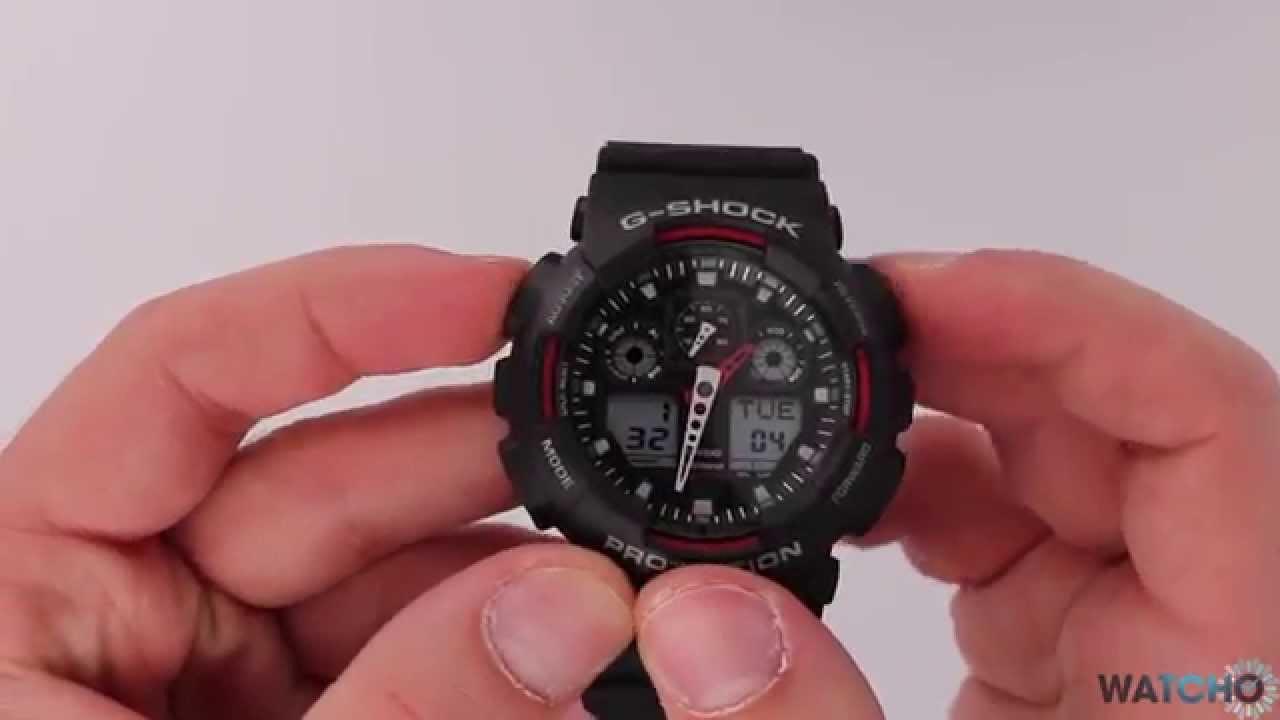 77c6319a225b WatchO.co.uk - Casio G-Shock Digital World-Time Watch GA-100-1A4ER Black