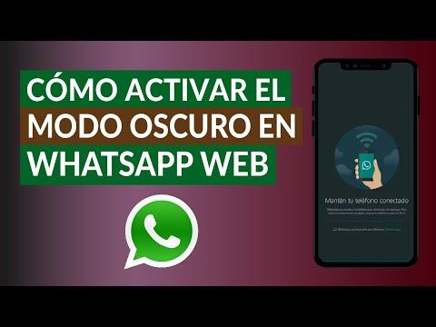 Cómo Activar el Modo Oscuro en WhatsApp Web Chrome Escritorio - Paso a Paso