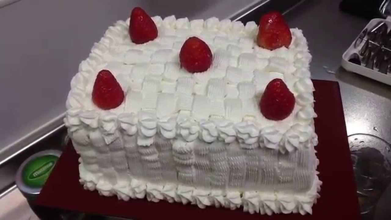 veda # 28 cobertura de chantilly facil bolo classico de festas de morango YouTube -> Decoração Para Bolo Com Morango