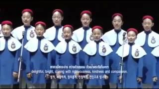 น้ำตาซึม เด็กๆเกาหลีร้องเพลง พระราชาผู้ทรงธรรม