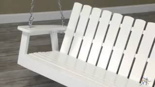 Shoreline Adirondack Porch Swing - White - Product Review Video